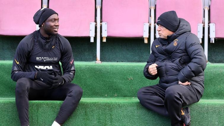 Florya'da Fatih Terim ve Mbaye Diagne arasında özel görüşme
