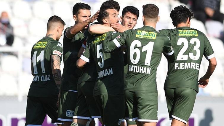 Bursaspor'un yenilmezlik serisi Ankara'da da devam etti
