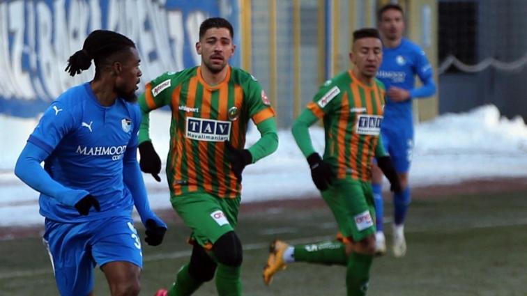 Alanyaspor deplasmanda BB. Erzurumspor ile 1-1 berabere kaldı