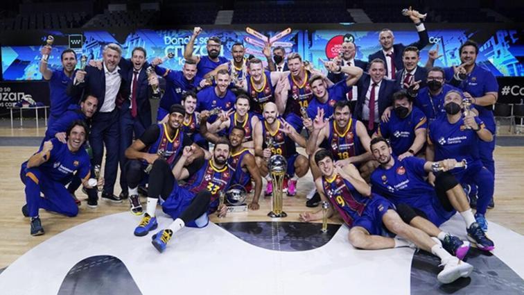 Basketbolda İspanya Kral Kupası Real Madrid'i deviren Barcelona'nın
