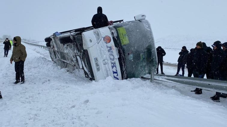Fatsa Belediyespor'un takım otobüsü devrildi! 1 kişi yaralandı