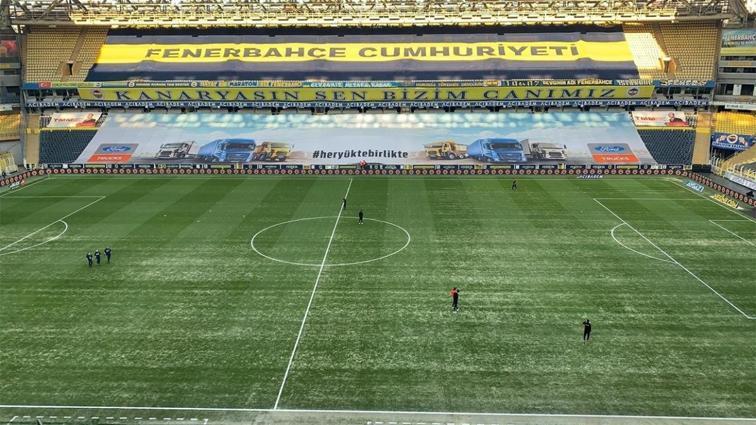 Fenerbahçe Ülker Stadı'nda zemin onarılıyor