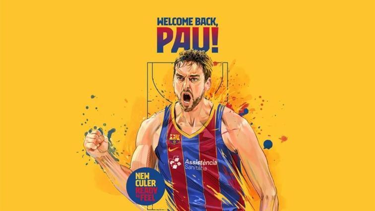 Pau Gasol, 20 yıl sonra Barcelona'da