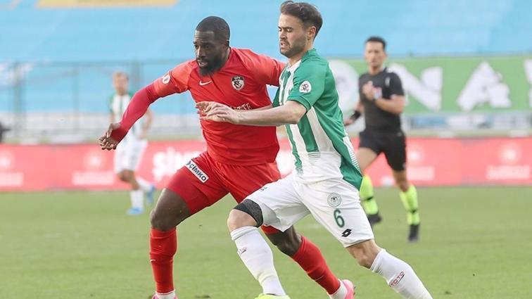 Konyaspor ile Gaziantep FK golsüz berabere kaldı