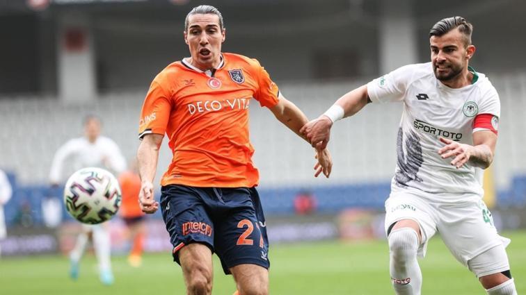 Başakşehir konuk ettiği Konyaspor ile 1-1 berabere kaldı