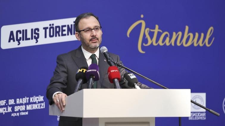 Bakan Kasapoğlu yenilenen Beylerbeyi Stadı'nın açılış törenine katıldı