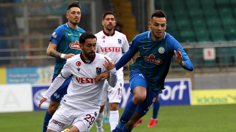 Çaykur Rizespor sahasında Trabzonspor ile 0-0 berabere kaldı