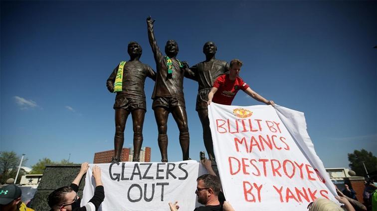 Avrupa Süper Ligi öfkesi dinmiyor: Manchester United'lı taraftarlardan protesto