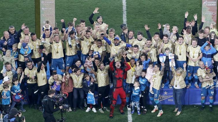 Lokomotiv Moskova'ya fark atan Zenit, Rusya'nın en büyüğü oldu