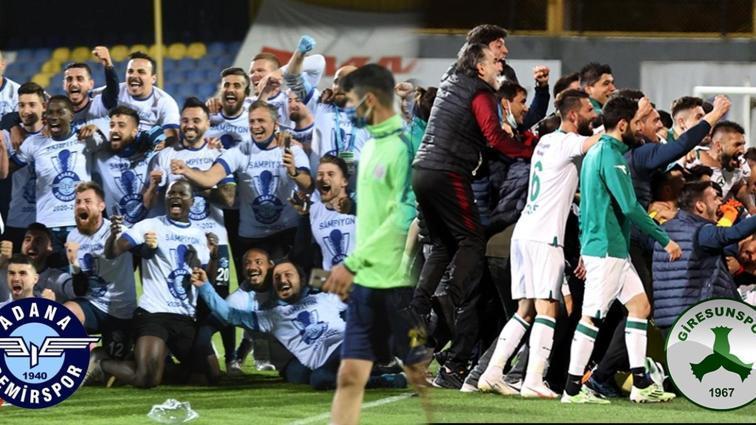 Son dakika haberi: Adana Demirspor ve Giresunspor Süper Lig'e yükseldi!