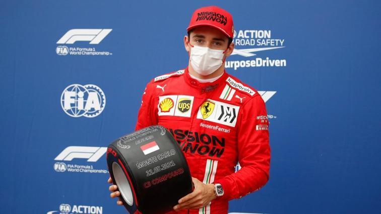 Charles Leclerc, F1 Monako Grand Prix'sinde pole pozisyonunun sahibi oldu