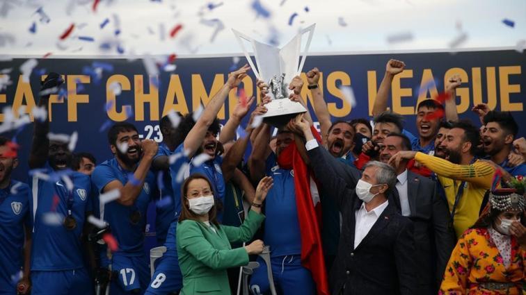Ampute Futbol Şampiyonlar Ligi'nde şampiyon Şahinbey Belediyespor