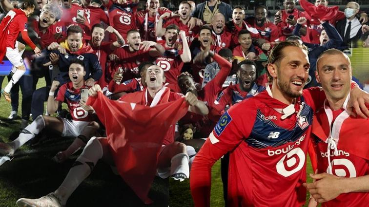 Fransa Ligue 1'de Burak Yılmaz'lı Yusuf Yazıcı'lı Zeki Çelik'li Lille şampiyon!
