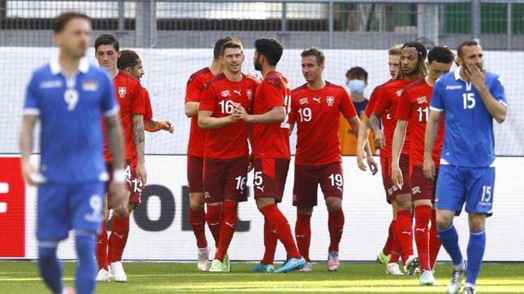 Millilerimizin EURO 2020'deki rakiplerinden İsviçre, Liechtenstein'ı 6-0 yendi
