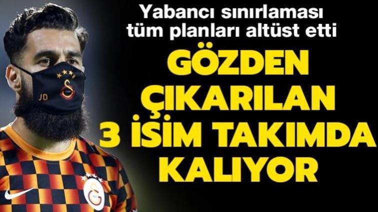 Yeni yabancı sınırı kararı Galatasaray'ın tüm transfer planlarını altüst etti
