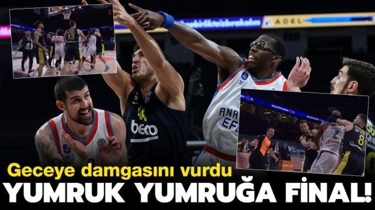Anadolu Efes - Fenerbahçe Beko maçında ortalık karıştı! Olaylı maçı kazanan Efes, zafere bir adım daha yaklaştı