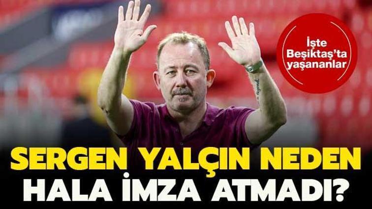 Beşiktaş'ta Sergen Yalçın imzayı hala atmadı! 24 saat süre istedi...