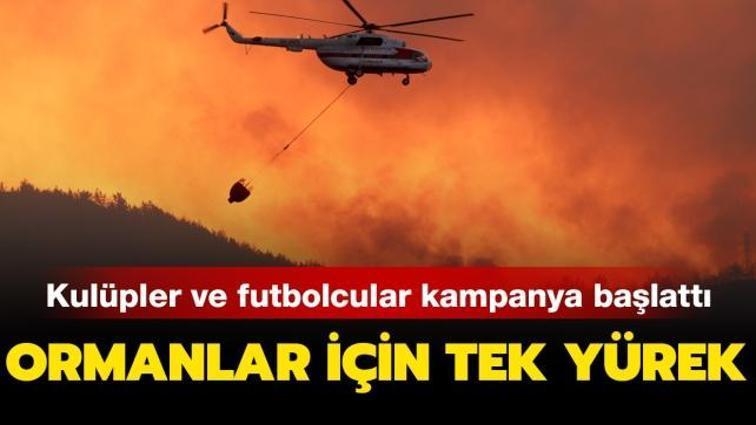 Futbol dünyası orman yangınlarına karşı tek yürek