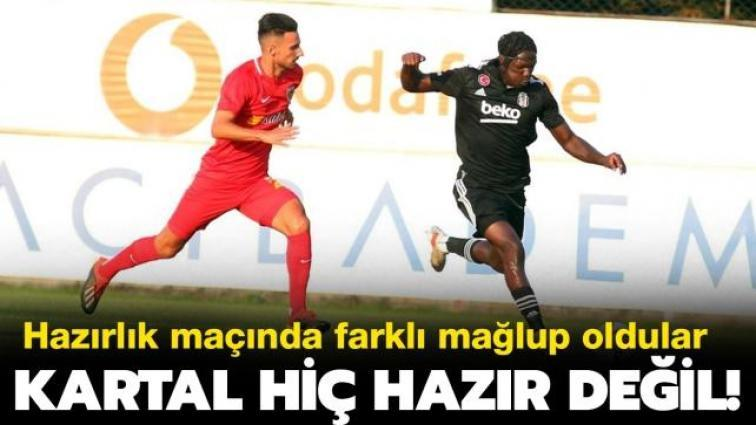 Beşiktaş hiç hazır değil: Hazırlık maçında farklı kaybettiler