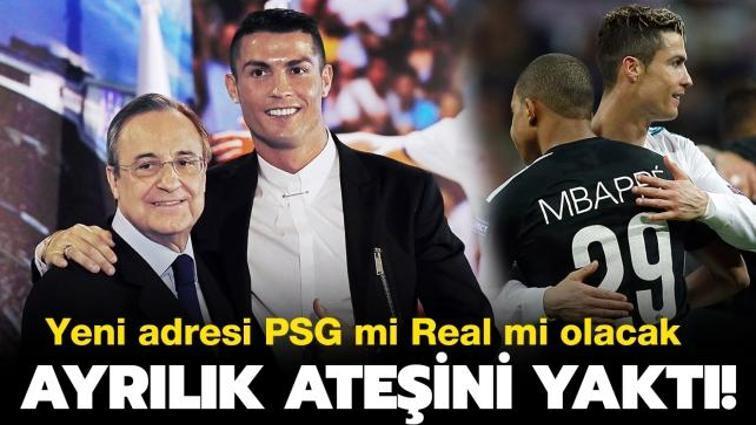 """Son dakika transfer haberi... Cristiano Ronaldo ayrılık ateşini yaktı! PSG mi Real Madrid mi"""""""
