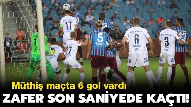 Galibiyet son saniyede kaçtı! Trabzonspor Molde ile berabere kaldı: 3-3