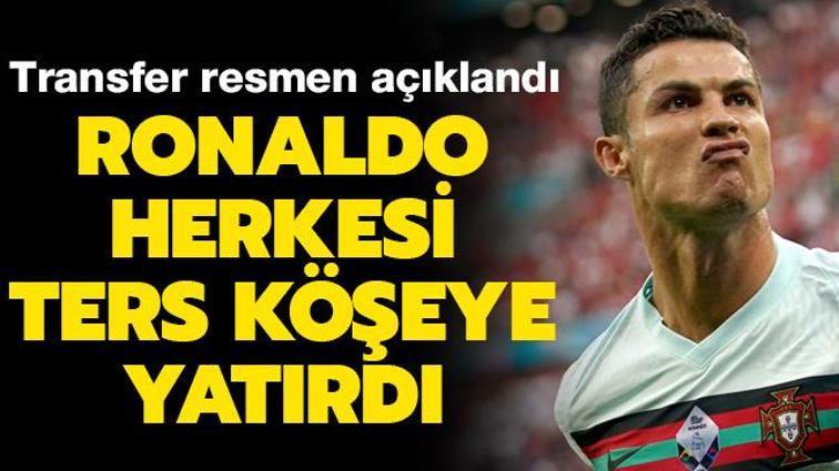 Son dakika transfer haberi: Cristiano Ronaldo resmen Manchester United'da