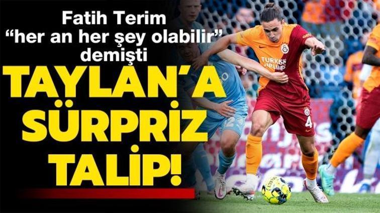 """Son dakika Galatasaray transfer haberi... Fatih Terim, """"her an her şey olabilir"""" demişti... Taylan'a sürpriz talip"""