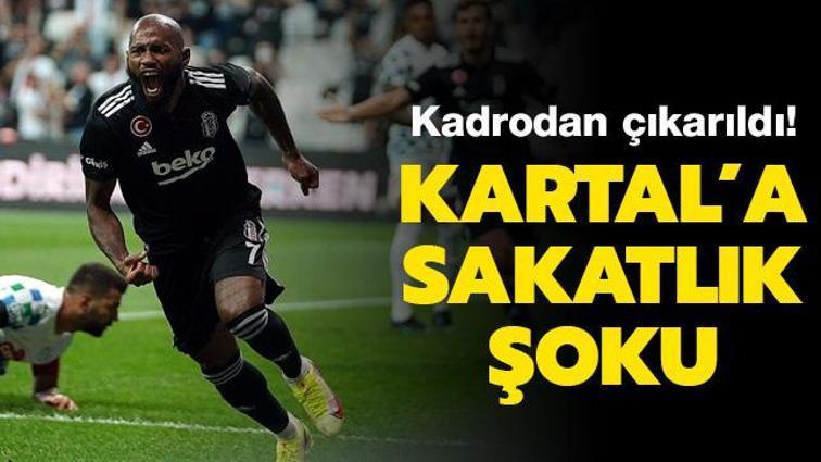 Beşiktaş'a Kevin N'Koudou'dan kötü haber geldi