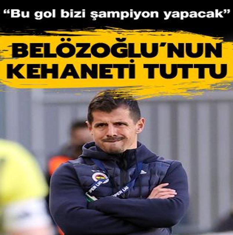 Emre Belözoğlu'nun kehaneti tuttu