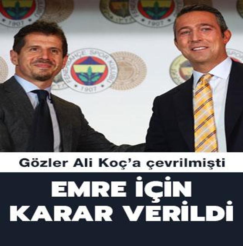 Fenerbahçe'de Emre Belözoğlu kararı verildi