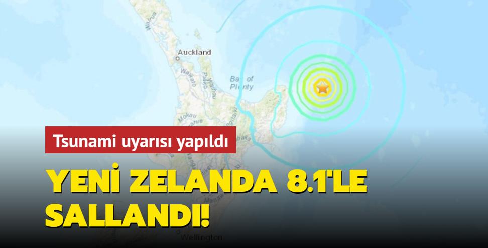Yeni Zelanda'da 8.1 büyüklüğünde bir deprem daha meydana geldi!