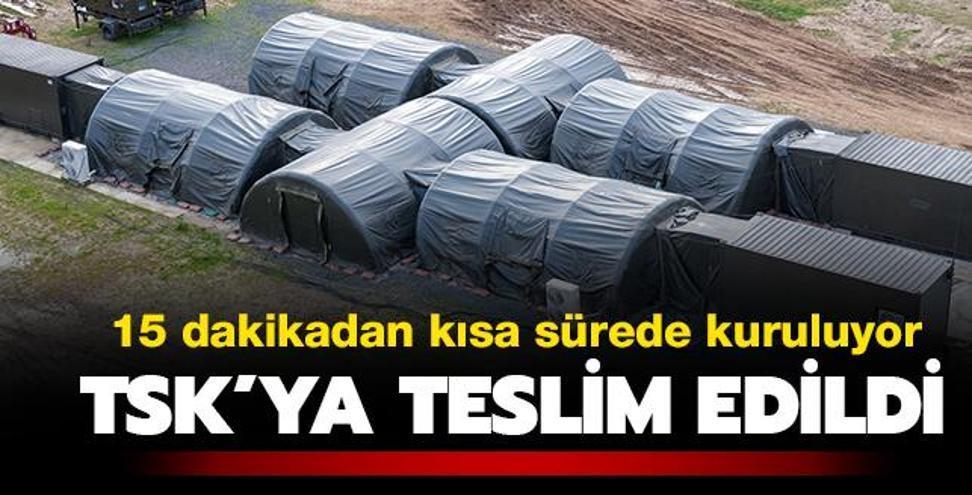 TSK'ya teslim edildi! 15 dakikada yüksek güvenlikli mobil askeri üs