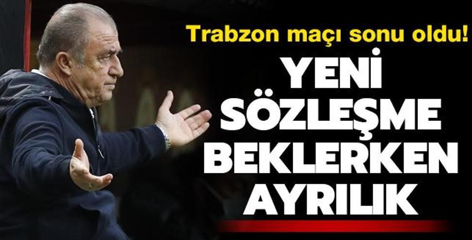 Trabzonspor maçı sonu oldu! Yeni sözleşme beklerken ayrılık!