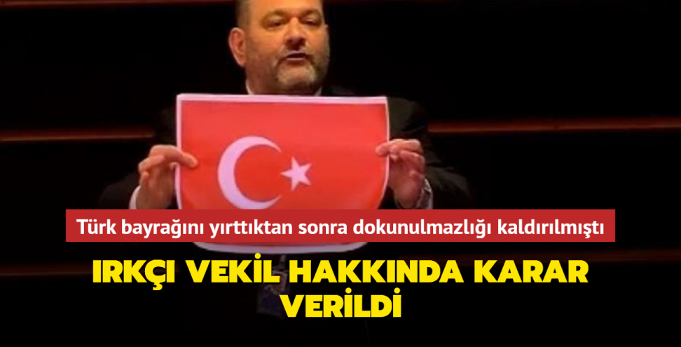 Türk bayrağını yırtan ırkçı Yunan vekil ülkesine iade edilecek