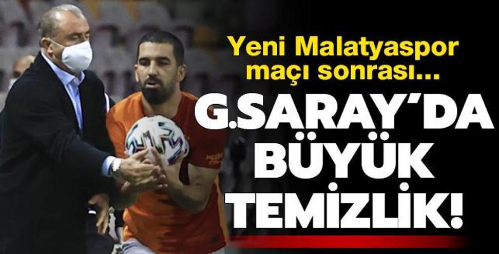 Galatasaray'da Malatyaspor maçı sonrası büyük temizlik!