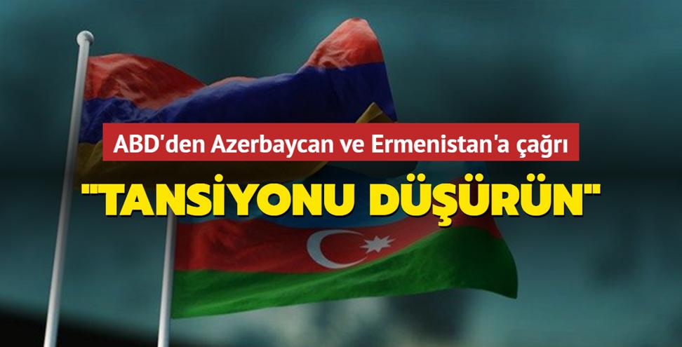 ABD'den Azerbaycan ve Ermenistan'a çağrı