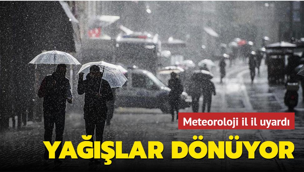 Meteroloji Doğu ve Kuzeybatı illeri için sağanak yağış uyarısında bulundu